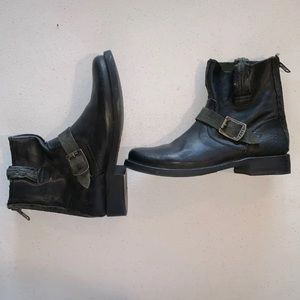 FYRE Leather Mid- Ankle Boots!